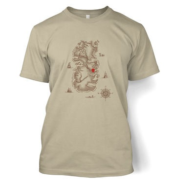 Westeros You Are Here t-shirt