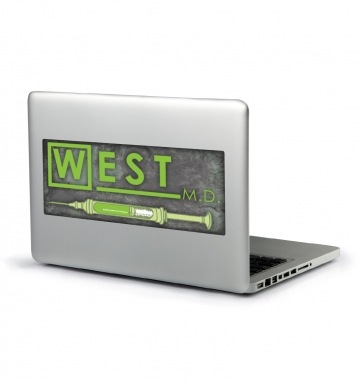 West MD HP Lovecraft laptop sticker