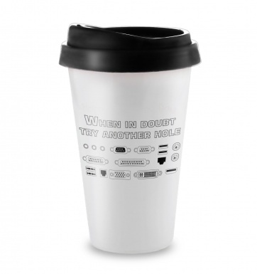 When In Doubt Try Another Hole travel latte mug