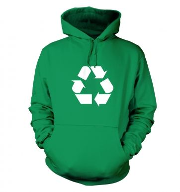 White Recycling Symbol hoodie