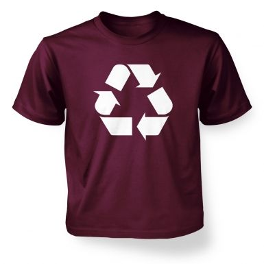 White Recycling Symbol kids' t-shirt