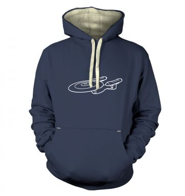 White Starship Enterprise  hoodie (premium)