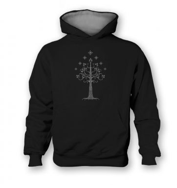 White Tree of Gondor   kids hoodie (contrast)