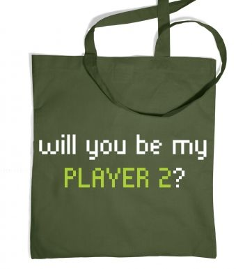 Will You Be My Player 2 tote bag