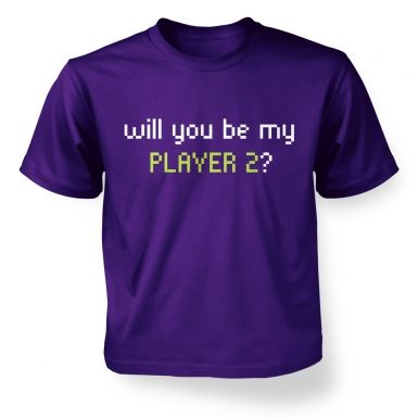 Will You Be My Player 2 kids' t-shirt