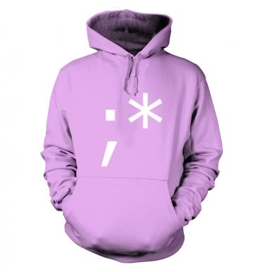 Winking Kiss Emoticon hoodie