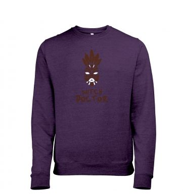 Witch Doctor Mask heather sweatshirt