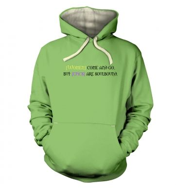 Women come and go hoodie (premium)