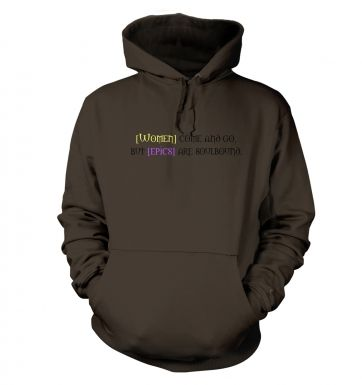 Women come and go hoodie
