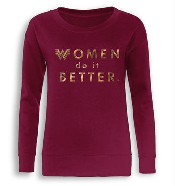 Women Do It Better fitted women's sweatshirt