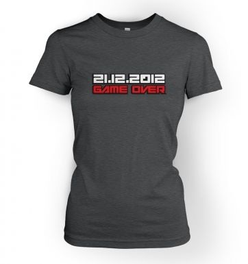 2012 Game Over womens t-shirt