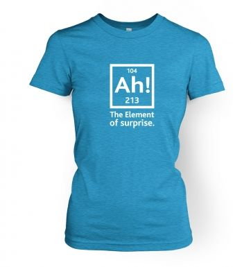 Ah! The Element Of Surprise women's t-shirt