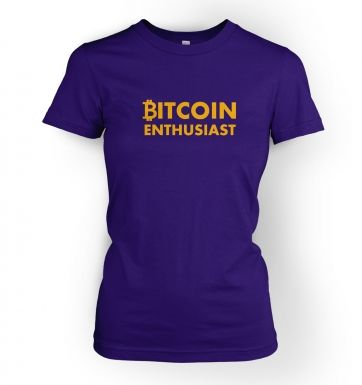 Women's Bitcoin Enthusiast t-shirt