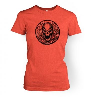 Skull Coin  womens t-shirt