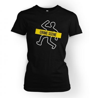 Crime Scene women's t-shirt