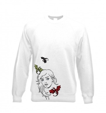 Daenerys with dragons sweatshirt
