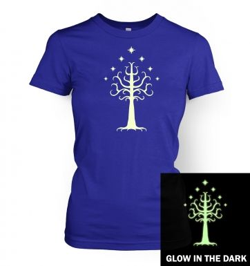 Glowing Tree of Gondor womens t-shirt