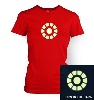 Arc Reactor (glow in the dark) women's fitted t-shirt