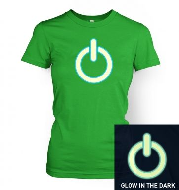 Glow In The Dark Power Symbol women's t-shirt