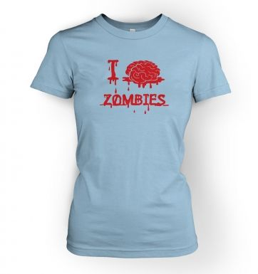 Women's I brain zombies t-shirt 