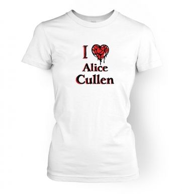 I heart Alice Cullen  womens t-shirt