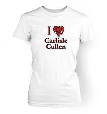 Women's I heart Carlisle Cullen t-shirt - Inspired by Twilight