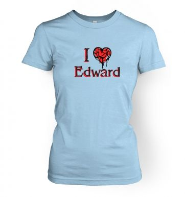 I Heart Edward  womens t-shirt