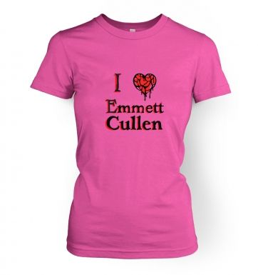 Women's I heart Emmett Cullen t-shirt - Inspired by Twilight