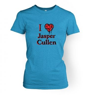 Women's I heart Jasper Cullen t-shirt - Inspired by Twilight