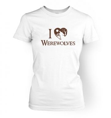 I Heart Werewolves  womens t-shirt