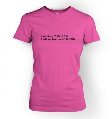 I will be fine in 2012 womens t-shirt