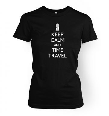 Keep Calm And Time Travel women's fitted t-shirt