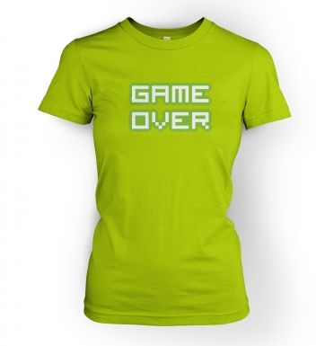 Pixelated Game Over  womens t-shirt