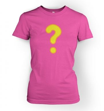 Quest Question Mark  womens t-shirt
