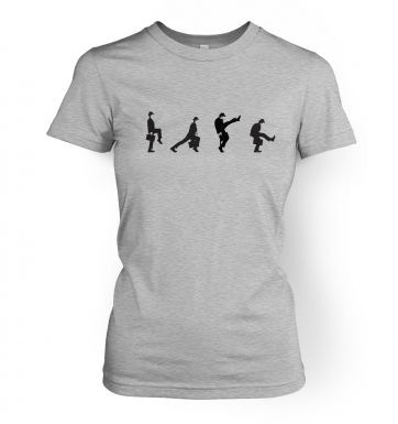 Row of silly walks women\'s t-shirt