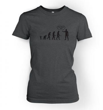 Stop Following Me! Evolution women's t-shirt