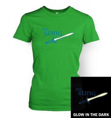 The Sting glow in the dark womens t-shirt