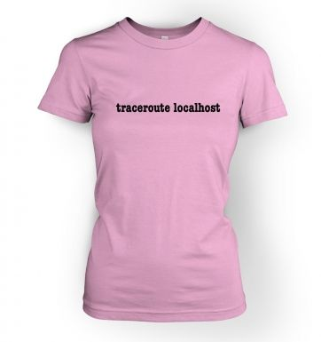 traceroute localhost womens t-shirt