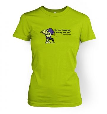 Treasure Goblin  womens t-shirt