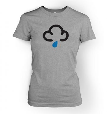 Weather Symbol Dark Clouds with Showers womens t-shirt