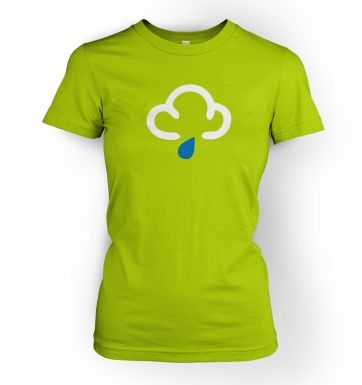 Weather Symbol Showers womens t-shirt
