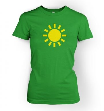 Weather Symbol Sunny womens t-shirt
