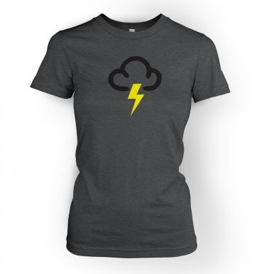 Weather Symbol Thunderstorms women's t-shirt