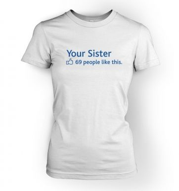 Women's Your Sister Social Status t-shirt