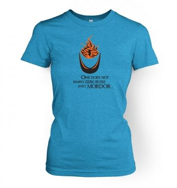 Zerg Rush into Mordor womens t-shirt