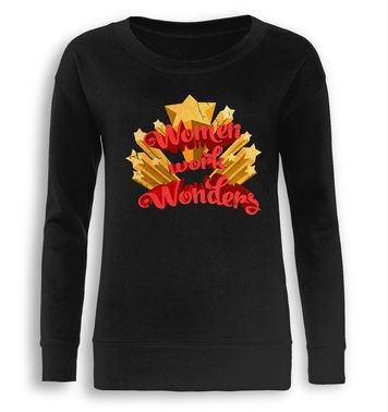 Women Work Wonders fitted womens sweatshirt