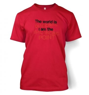 The World Is Diagonal men's t-shirt