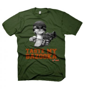 Worms Taste My Bazooka t-shirt - OFFICIAL