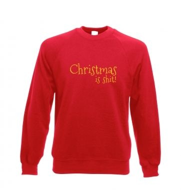 Christmas Is Shit Adult Crewneck Sweatshirt