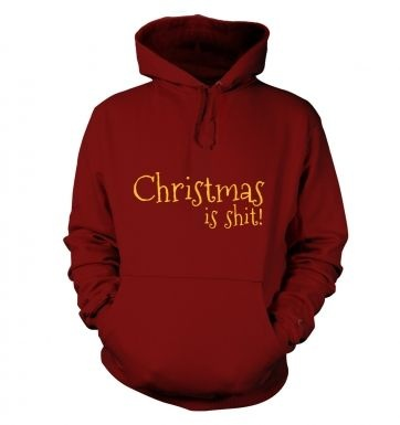 Christmas Is Shit Adult Hoodie